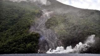 FOTO: Status Siaga Gunung Karangetang di Sulut