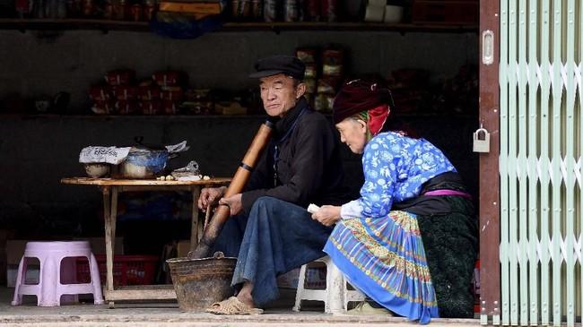Bagi etnis Hmong di Vietnam, itu adalah rumah keluarga yang patut diperjuangkan. (Nhac NGUYEN / AFP)