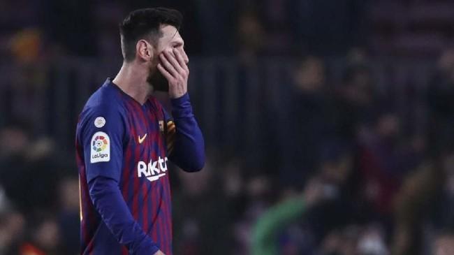 Lionel Messi baru masuk pada menit ke-63 menggantikan Philippe Coutinho. (REUTERS/Sergio Perez)
