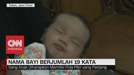Unik! Nama Bayi Ini Berjumlah 19 Kata