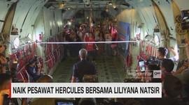 Liliyana Natsir Main Bulutangkis di Pesawat Hercules