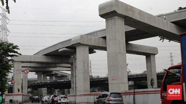 Lintas Cawang-Cibubur Tersambung, Progres LRT Capai 60 Persen