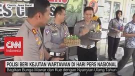 Polisi Beri Kejutan Wartawan di Hari Pers Nasional