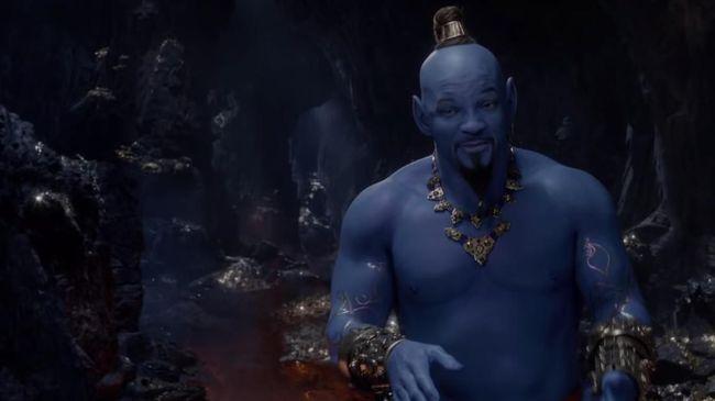 Penampakan Will Smith Berwarna Biru dalam 'Aladdin'
