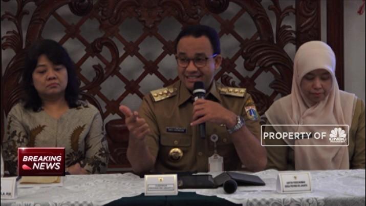 Gubernur Anies Jelaskan LRT Penyebab Banjir Jakarta
