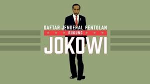 INFOGRAFIS: Jenderal Pentolan Dukung Jokowi