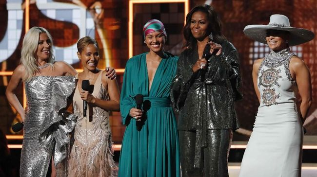 Kejutan dari Michelle Obama di Grammy Awards 2019