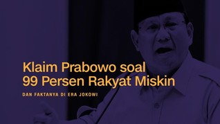 INFOGRAFIS: Kemiskinan Versi Prabowo dan Fakta di Era Jokowi