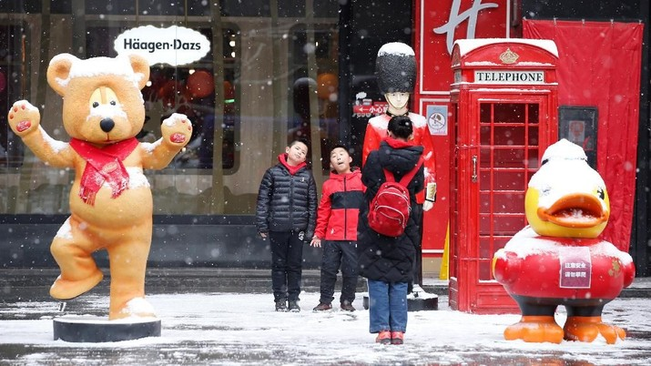 Usai Rayakan Imlek, China Dilanda Hujan Salju