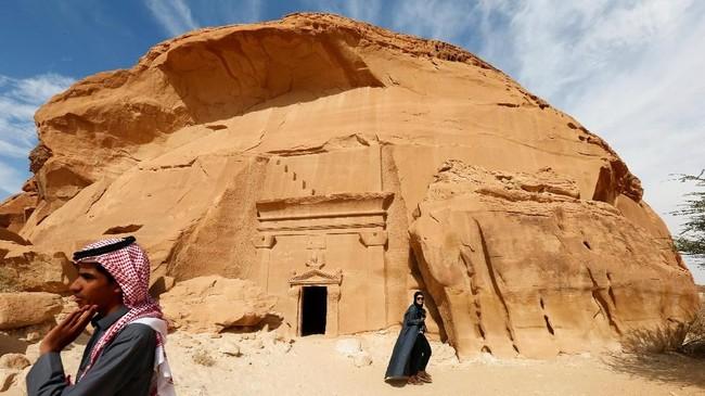 Kota tua ini tidak pernah dibuka untuk umum, namun Pemerintah Arab Saudi akhirnya memutuskan membuka kota tua ini untuk wisatawan. (REUTERS/Faisal Al Nasser)
