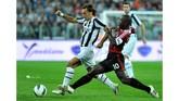 Juventus pantas berterima kasih kepada AC Milan yang memutuskan melepas Andrea Pirlo secara gratis pada 2011. Pirlo kemudian memperkuat Juventus hingga 2015 dan menjadi legenda klub. (OLIVIER MORIN / AFP)