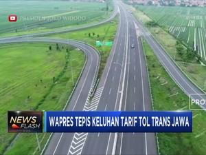 JK: Tarif Tol Trans Jawa Sebanding dengan Nilai Investasi