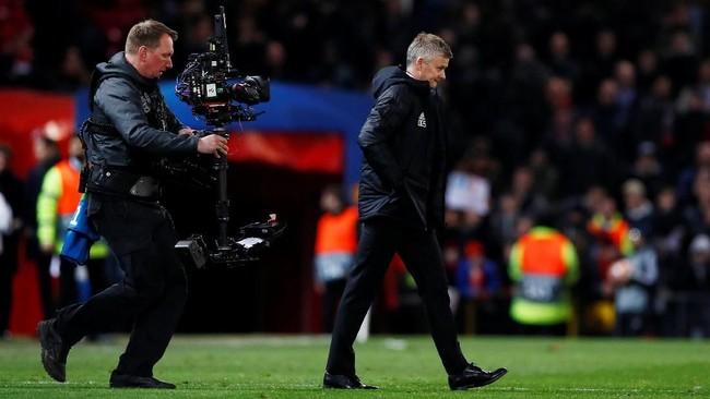 Kekalahan dari PSG merupakan hasil negatif pertama yang diterima Manchester United bersama Ole Gunnar Solskjaer di kursi manajer. (Action Images via Reuters/Jason Cairnduff)