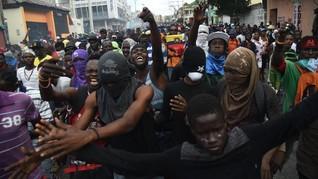 FOTO: Inflasi Kobarkan Amarah Warga Haiti