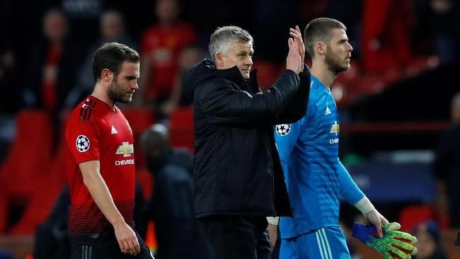 Manchester United akan menghadapi PSG pada laga kedua babak 16 besar pada 6 Maret 2018 di Stadion Parc des Princes. (REUTERS/Phil Noble)
