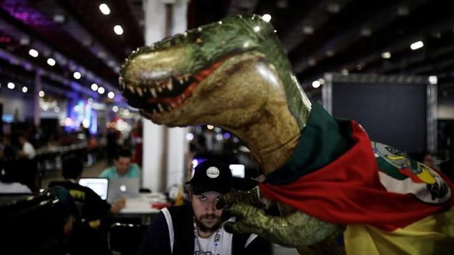 Festival teknologi ini pertama kali diselenggarakan pada 1997 di Spanyol.(REUTERS/Nacho Doce)