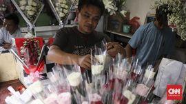 'Aroma' Romantis Pasar Bunga Cikini