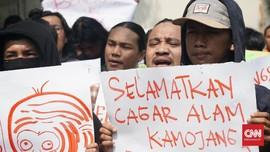 Aksi Tolak Penurunan Status Kawasan Kamojang dan Papandayan
