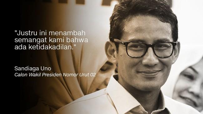 Calon Wakil Presiden nomor urut 02 Sandiaga Uno