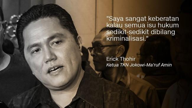 Ketua TKN Erick Thohir