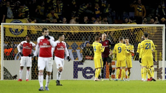 FOTO: Arsenal Tumbang di Liga Europa