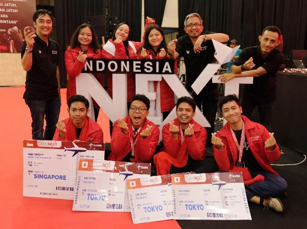 Setelah melalui berbagai tahapan seleksi yang melibatkan lebih dari 17.000 peserta, Telkomsel mengumumkan 10 peserta terbaik IndonesiaNEXT 2018. Para pemenang berkesempatan mendapatkan short course di perguruan tinggi dan beberapa perusahaan profesional ternama di Tokyo, Jepang. Foto: dok. Telkomsel