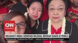 Vlog:Megawati Imbau Generasi Milenial Berikan Suara di Pemilu
