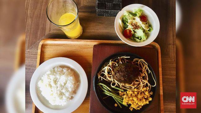 Mencicip Japanese Hambagu Steak, Hamburg Steak khas Jepang