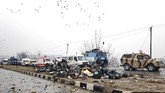 Serangan ini terjadi lebih dari dua tahun setelah gerilyawan bersenjata memasuki pangkalan militer di Kota Garnisun Uri, sekitar 102 kilometer dari Srinagar, menewaskan sedikitnya 18 orang. (Reuters/Younis Khaliq)
