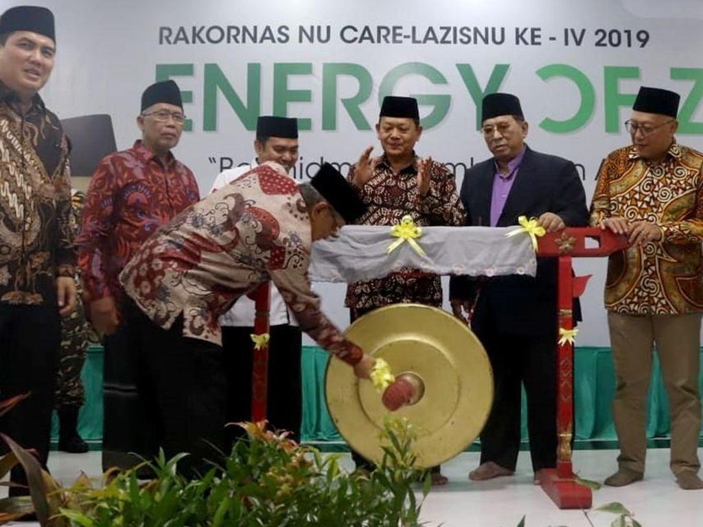 Acara yang dihadiri oleh NU Care-LAZISNU seluruh Indonesia tersebut mengambil tema penting Energy of Zakat: Berkhidmat Membangun Arus Baru Ekonomi Umat. Foto: dok. PBNU