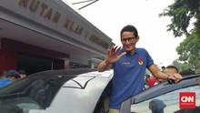 Sandi Sambangi Rumah Prabowo Jelang Debat Capres Kedua