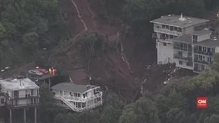 VIDEO: Badai Tropis Sebabkan Longsor di California