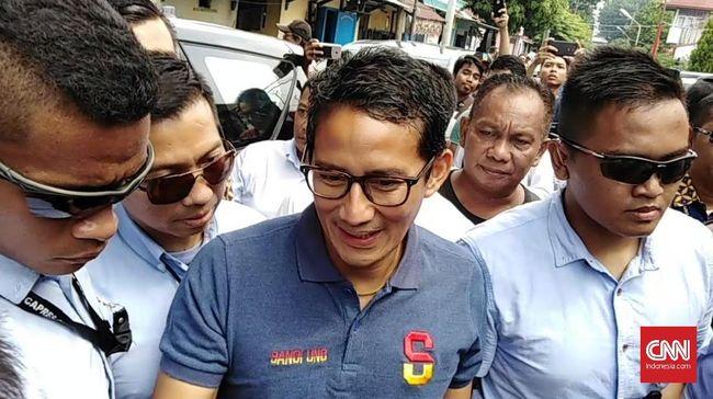 Sandi Masih 'Galau' Ikut Nobar atau Dampingi Prabowo di Debat
