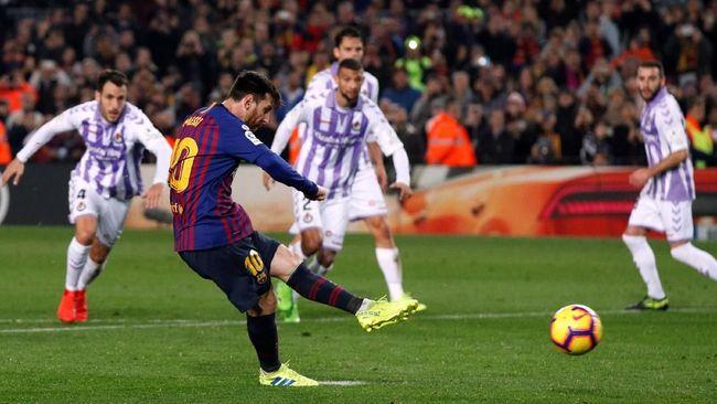 Penalti Messi Antar Barcelona Menang 1-0 atas Valladolid