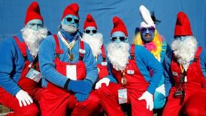 FOTO: 'Lautan' Smurf Birukan Jerman