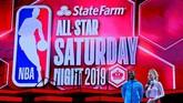Rangkaian NBA All Star 2019 berlanjut pada Sabtu (16/2) malam waktu setempat dengan agenda kontes kemampuan, seperti skills challenge, tembakan tiga angka, dan slam dunk di Spectrum Center, Charlotte, North Carolina. (Bob Donnan-USA TODAY Sports)