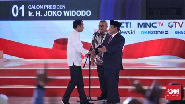 Beda Gaya Jokowi dan Prabowo di Arena Debat Pilpres 2019