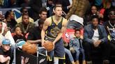 Stephen Curry tampil meyakinkan di sesi pertama dengan mengumpulkan 27 poin dan tercatat sebagai pengumpul poin terbanyak. (Jim Dedmon-USA TODAY Sports)