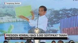 Jokowi Kembali Bagi 5000 Sertifikat Tanah