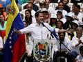 Pulang ke Venezuela, Guaido Disambut Bak Pahlawan