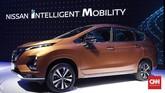 Nissan Livina baru punya dimensi panjang 4.570 mm, lebar 1.750 mm, tinggi 1.695 mm, serta wheelbase 2.775 mm. Ground clearance terendah mobil ini 200 mm. (CNNIndonesia/Safir Makki)