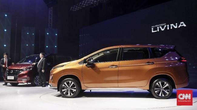 Peluncuran all new Nissan Serena dan Nissan Livina dilakukan di hari yang sama,Selasa (19/2). (CNNIndonesia/Safir Makki)
