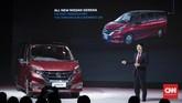 Peluncuran all new Nissan Serena di Jakarta, Selasa, 19 Februari 2019. Peluncuran MPV ini menegaskan komitmen Nissan kepada pelanggan Indonesia dengan mengusung Nissan Intelligent Mobility. (CNNIndonesia/Safir Makki)