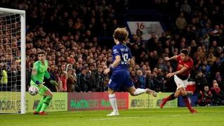 Man United Unggul 2-0 atas Chelsea di Babak Pertama