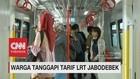 Tarif LRT Jabodebek Rp 12 Ribu, ini Tanggapan Warga