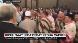 Ricuh Saat Jeda Debat Kedua Capres