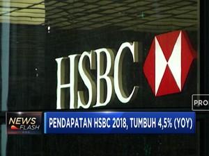 Pendapatan HSBC Tumbuh 4,5% di 2018