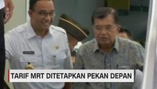 Tarif MRT Ditetapkan Pekan Depan