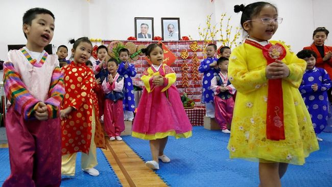 Taman Kanak-kanak Korut di Vietnam Bersiap Sambut Kim Jong-un