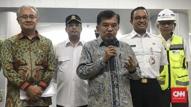 Bareng Anies Baswedan, JK Jajal MRT Bundaran HI-Lebak Bulus